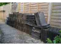 "Roof Slate Tiles - Dark Grey - 12.5""x16.5"""