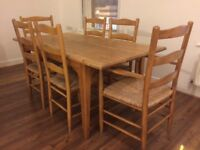 Dining Table + 6 Chairs - solid wood