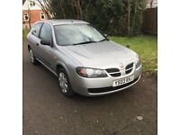 Nissan Almera 1.5S 3-Door 2003, Low mileage ONE Previous Owner, Long MOT, silver