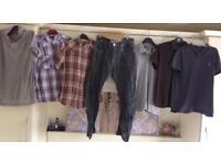 Mens bundle size large and 34 waist