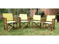 Folding 'Director's Chairs' - Qty 4