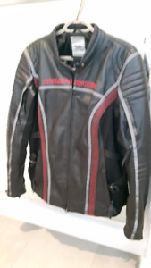 Harley Davidson Riding Leather Jacket & Chaps for sale