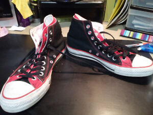 Converse All Stars - Red, Black and White