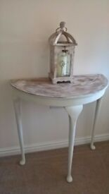 Cream Half Moon Console Hallway Table