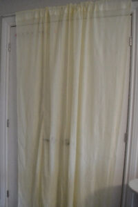 "Tulle Voile Door Window Lace Curtain Drape 68""W x 80"" H"