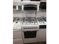 50CM WHITE EYE LEVEL GAS COOKER