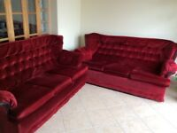 Two sofas 3 seater.