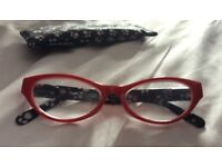 Lydia Red ladies reading glasses, + 2