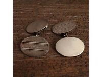Hall marked Silver Cufflinks - Ted Baker