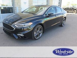 2017 Ford Fusion V6 Sport 2.7L V6, AWD, LEATHER, REMOTE START