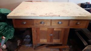 Antique Maple Workbench