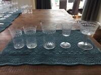 A selection of Czechoslovakian glasses