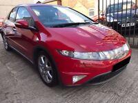 Honda Civic 2.2 i-CTDi EX 5dr - 2007, 12 Months MOT, 2 Lady Owners, 9 Services, SATNAV, £2695