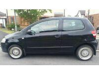 Black 1.4 3dr VW Fox, 60 Reg, Low mileage (38,000), Full service history, Alloy wheels, MOT til Jan