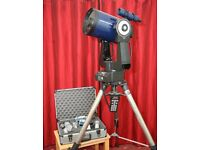 Meade 8-inch LX200 astronomical telecsope on tripod with Go-To electronic guidance