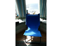GARDEN SUN CHAIR..BLUE..VERY COMFORTABLE..FOLDABLE..