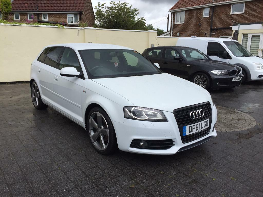 2012 audi a3 s line black edtion 2 0 tdi rare pearl white in wallsend tyne and wear gumtree. Black Bedroom Furniture Sets. Home Design Ideas