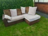 Corner fabric sofa (free delivery)