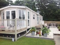 Static caravan sited on Llanrhidian Holiday Park Gower