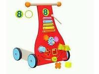 Classic world wooden baby walker. Brand new.