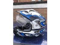 Size large motorbike helmet