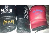 Boxing cloves and hemlet , sportsman bag