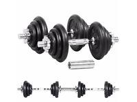 Pro Power - 20kg Cast Iron Dumbbell Set