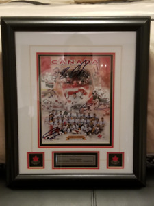 Autographed Limited Edition 2002 Gold Medal Men's Team Photo