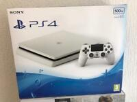 Used white slim PS4 500GB 3 months old warranty and receipt
