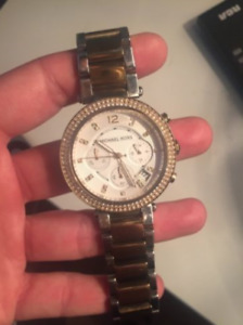 Well-loved two tone Michael Kors Watch