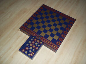 Beautiful Primitive style checkers board handmade/painted