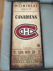 Lot de cadres des Canadiens de Montreal a vendre
