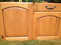 Elm kitchen unit doors (not units) , glass display unit and sink - good quality and condition £90.