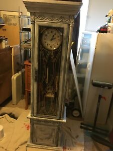 Refinished grandfather clock