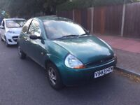 Ford KA 1.3 for sale, MOT, very low mileage, drives really good, cheap.