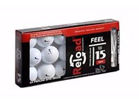 Reload Recycled Golf Balls 15 Pack Nike Golf Balls with 30 Wood Tees 2 3/4 Inch
