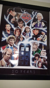 Doctor Who 50th Anniversery Poster Art by Kevin Kendall
