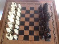 Ancient Irish themed chess set