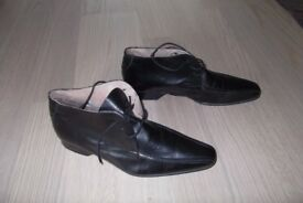 Men's Hudson Formal Shoes Black Leather UK Size 10