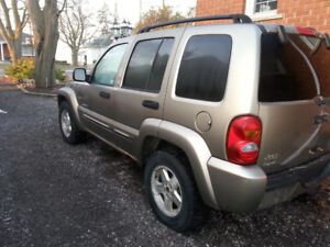 SELL OR TRADE- 2003 JEEP LIBERTY, MUST SELL