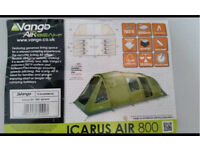 Vango 8man inflatable tent with porch and footprint