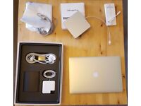 """Apple MacBook Pro Retina 2015 15"""" i7 2.2GHz, 16GB Ram, 256GB SSD with ethernet adaper and disk drive"""