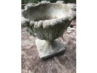 Victorian style large urn planter, vintage, antique