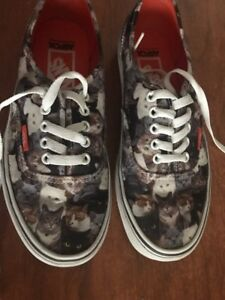 VANS cat print shoes