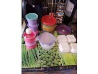 Various storage pots
