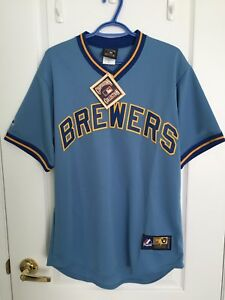 MLB Milwaukee Brewers Vintage Jersey Size Medium