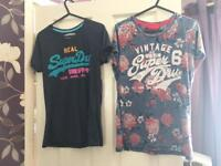Superdry t-shirts size L £7 each or both £12