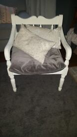 Vintage solid wood chair armchair shabby chic annie sloan