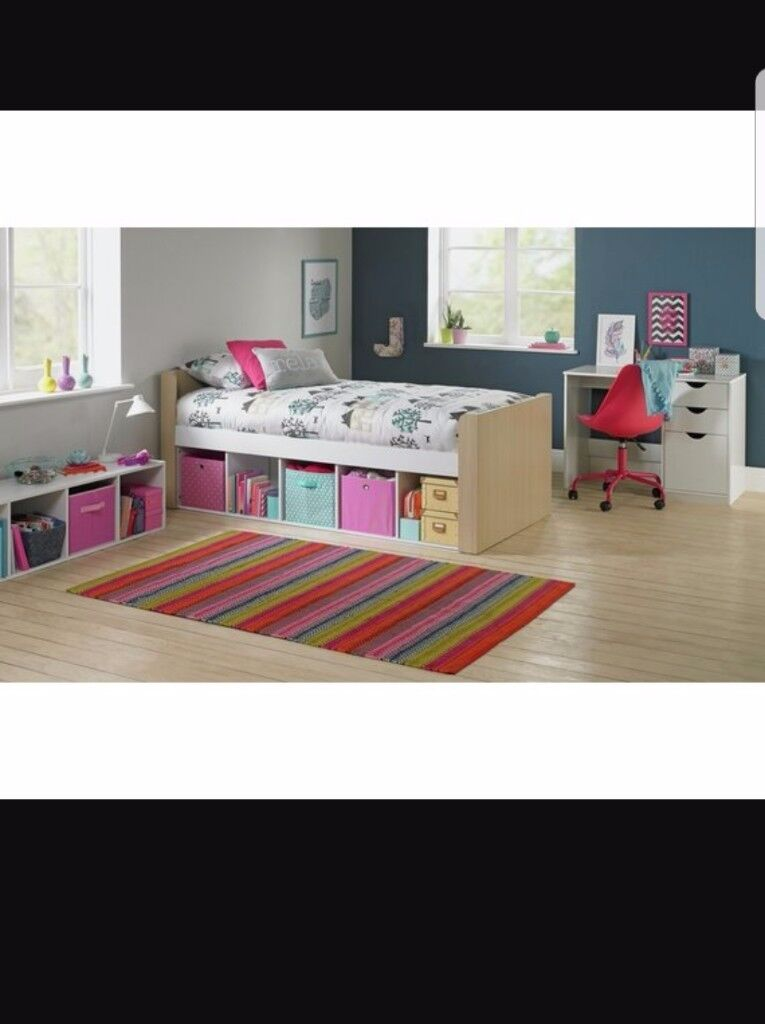 Single cabin bed and matress used twice purchased from argos last year