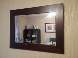 Mirror solid wood